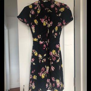 Banana Republic Navy/ Black Flower Dress